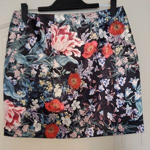 Silky Floral Skirt